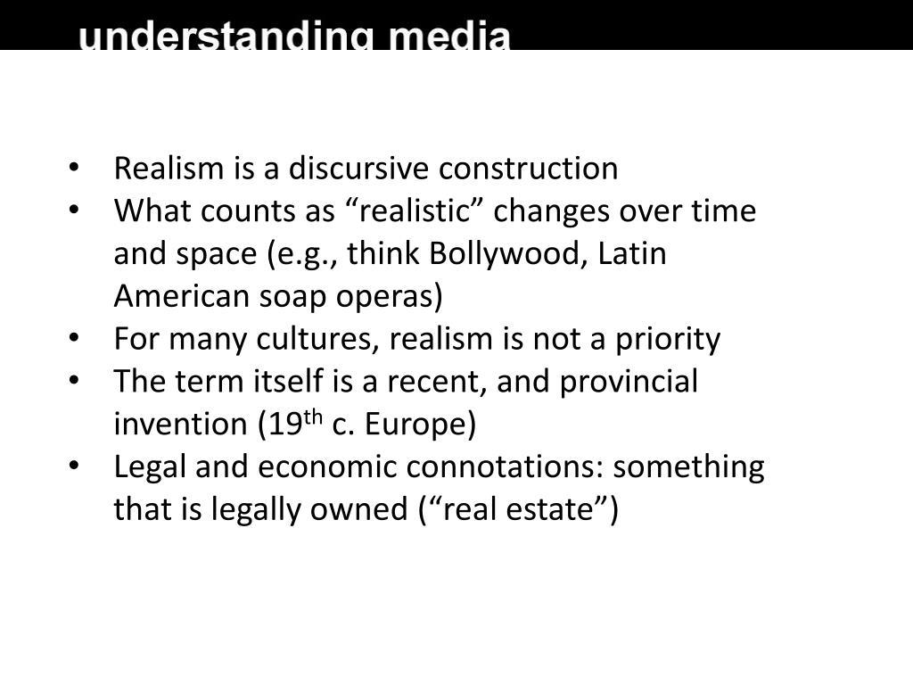 Realism is a discursive construction