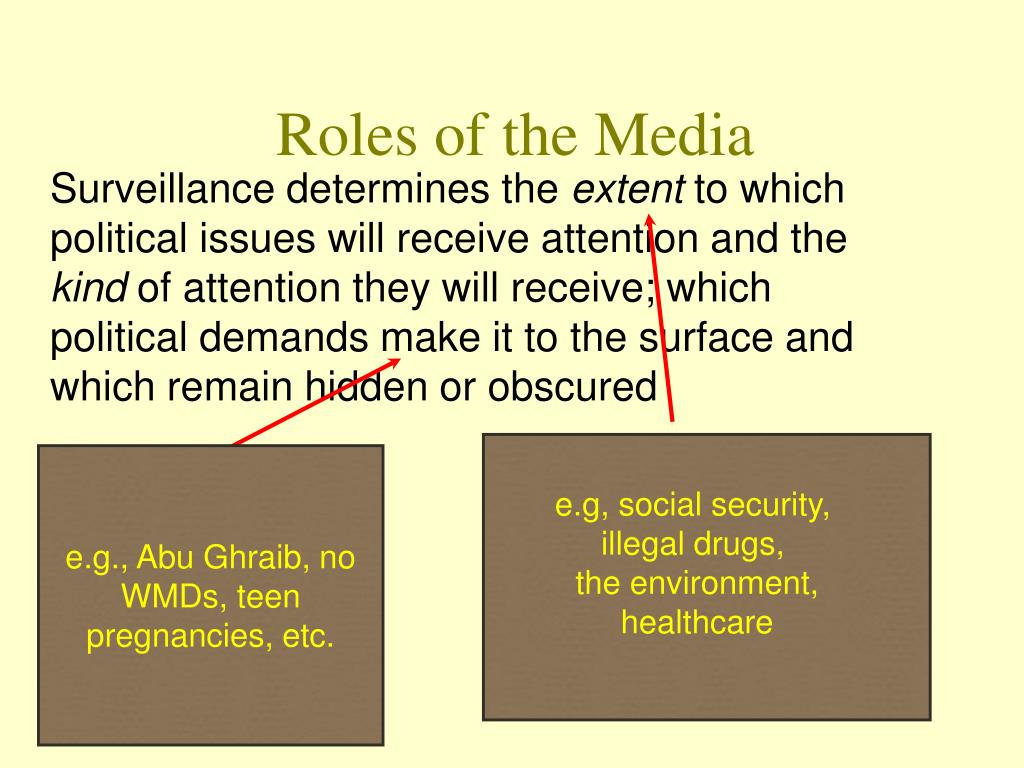 Roles of the Media