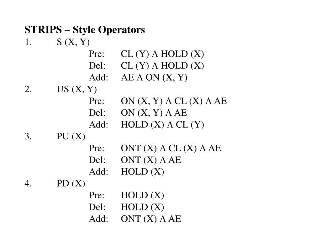 STRIPS – Style Operators