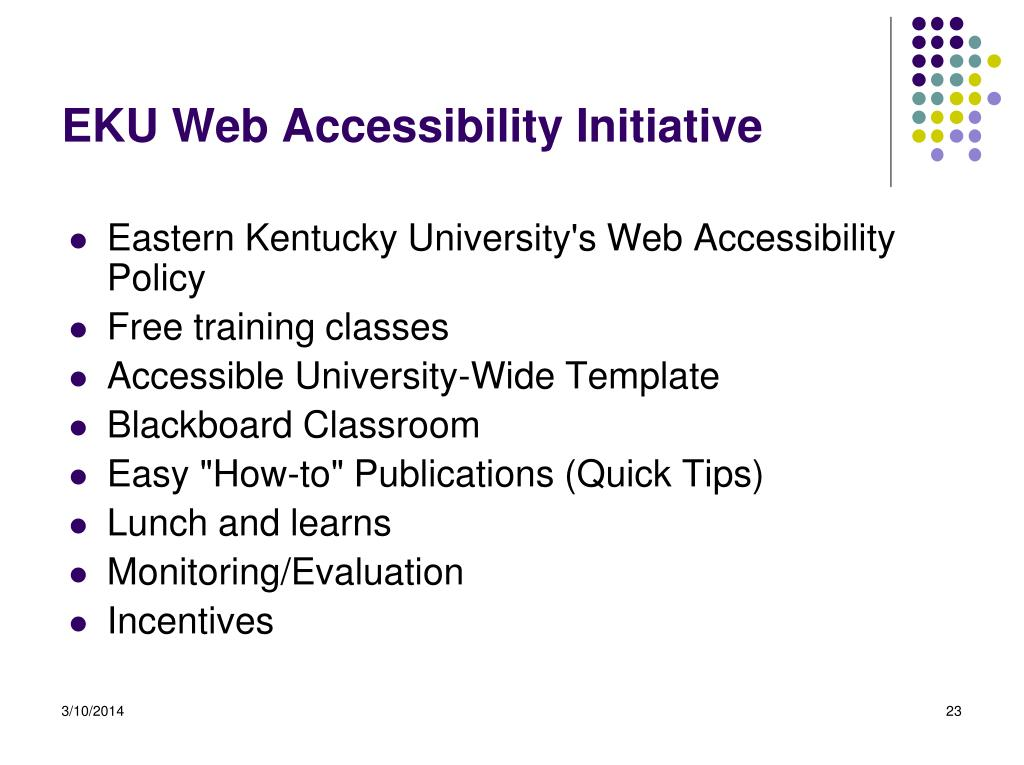 EKU Web Accessibility Initiative