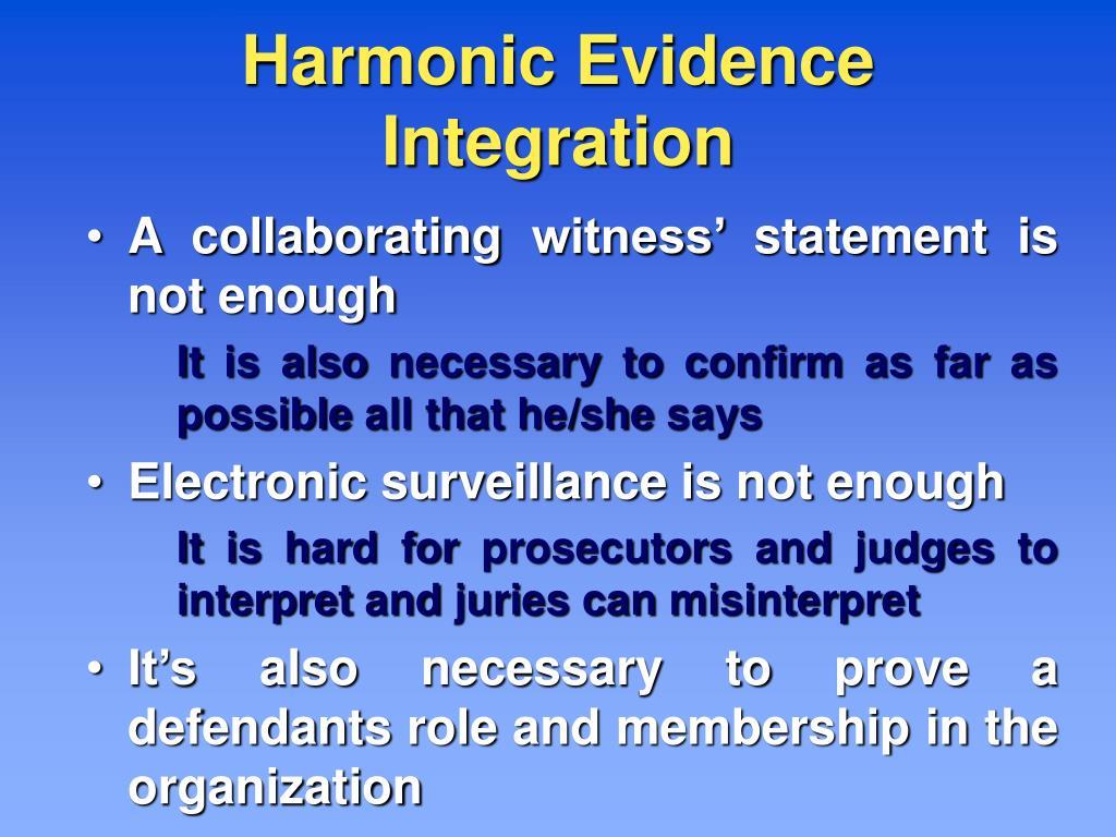 Harmonic Evidence Integration
