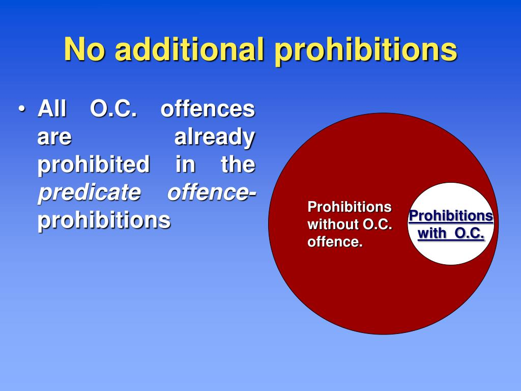 No additional prohibitions