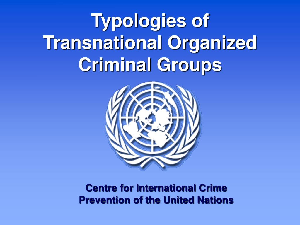 Typologies of Transnational Organized Criminal Groups
