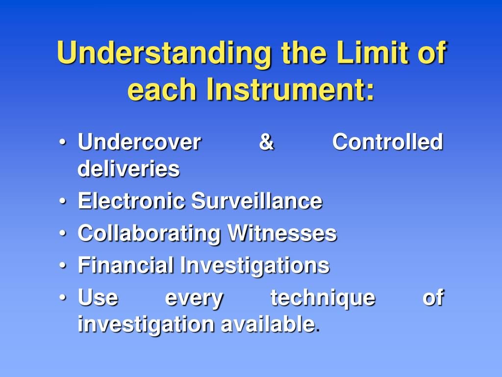 Understanding the Limit of each Instrument: