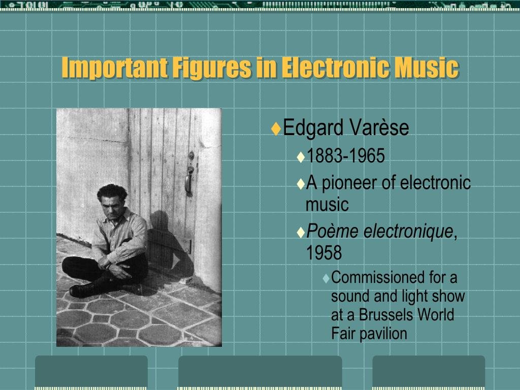 Important Figures in Electronic Music