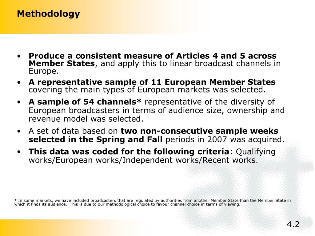 Produce a consistent measure of Articles 4 and 5 across Member States