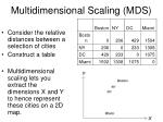 multidimensional scaling mds