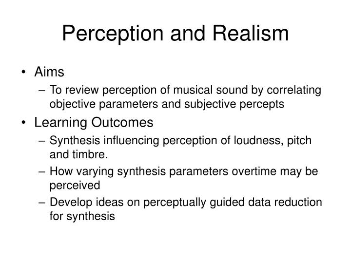 Perception and realism