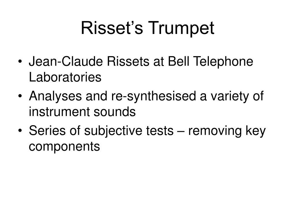 Risset's Trumpet
