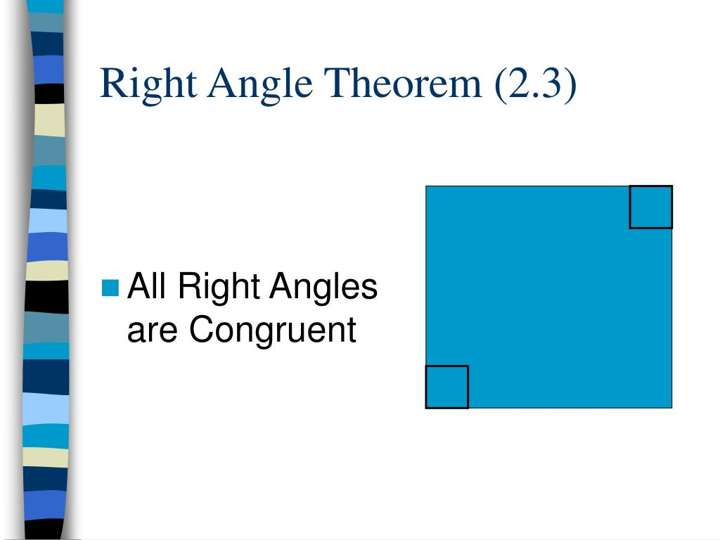Right Angle Theorem (2.3)