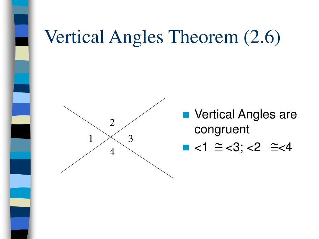 Vertical Angles Theorem (2.6)