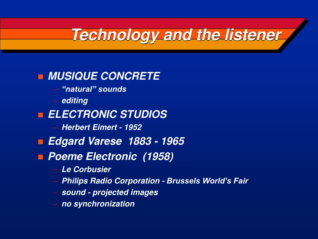 Technology and the listener
