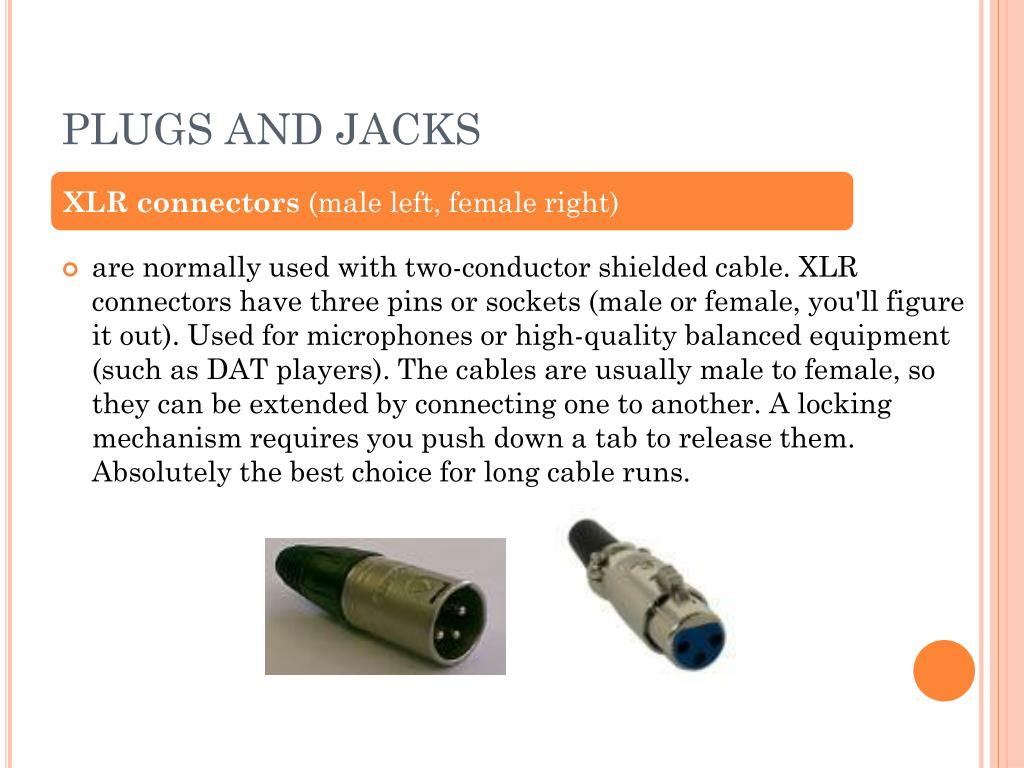 PLUGS AND JACKS
