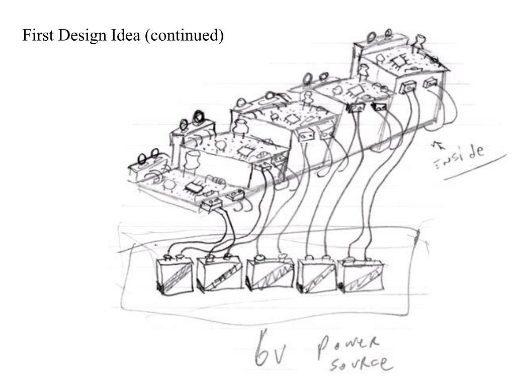First Design Idea (continued)
