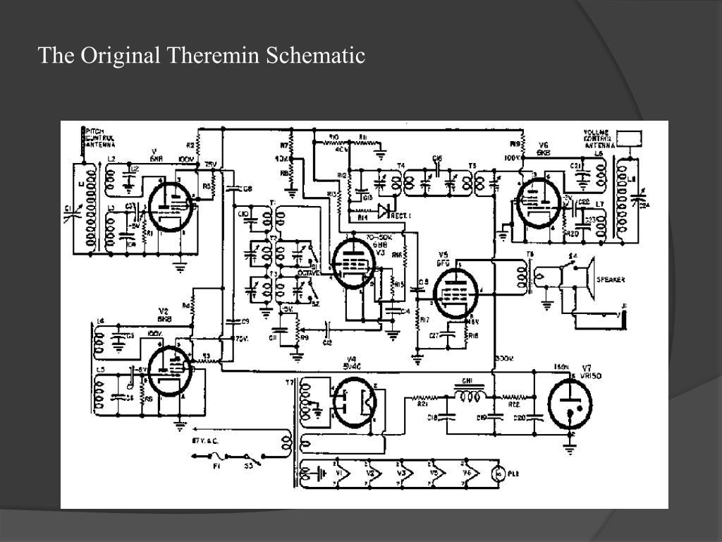 The Original Theremin Schematic