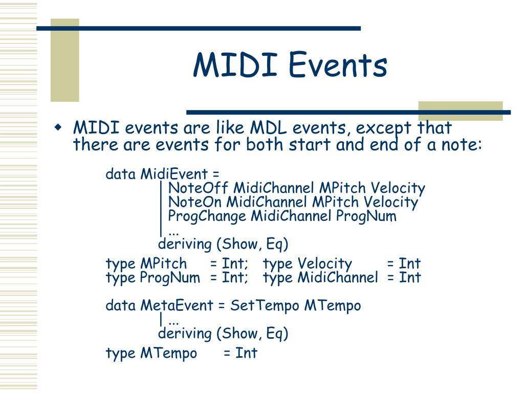 MIDI Events
