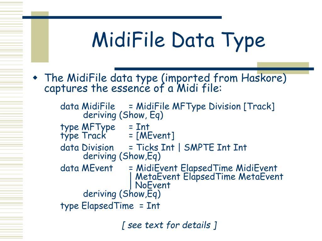 MidiFile Data Type