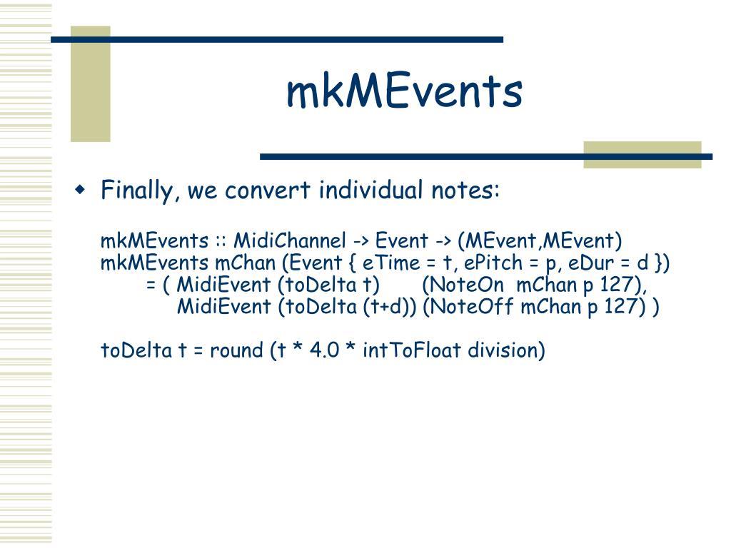 mkMEvents