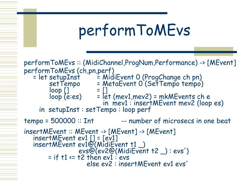 performToMEvs