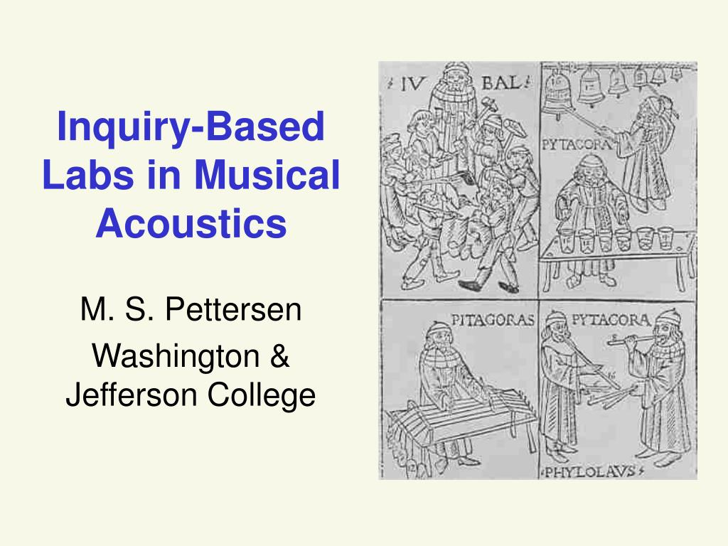 Inquiry-Based Labs in Musical Acoustics