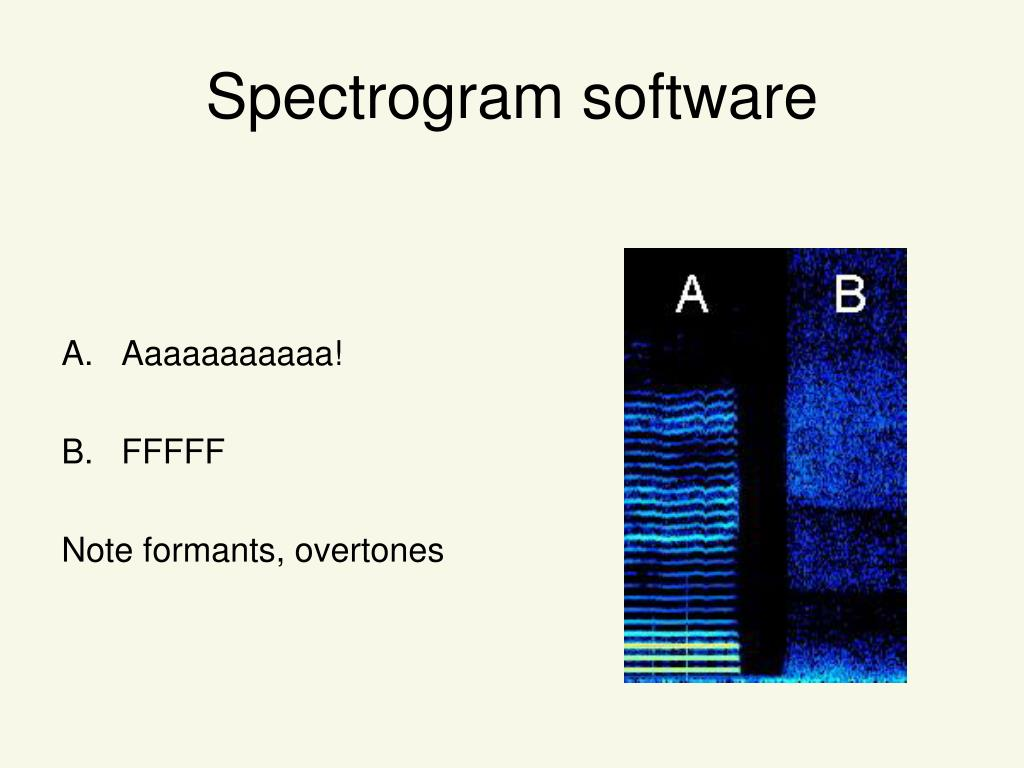 Spectrogram software