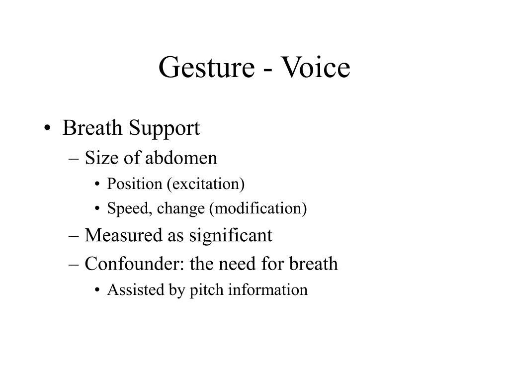 Gesture - Voice