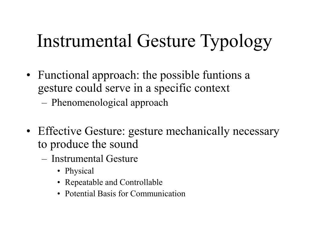 Instrumental Gesture Typology