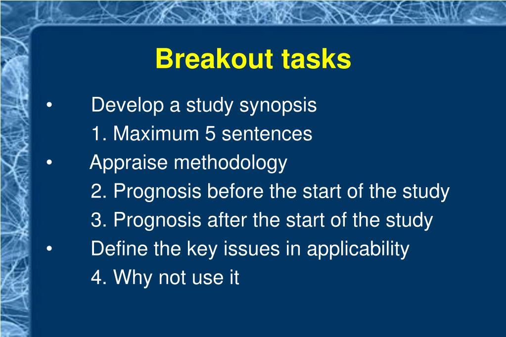 Breakout tasks