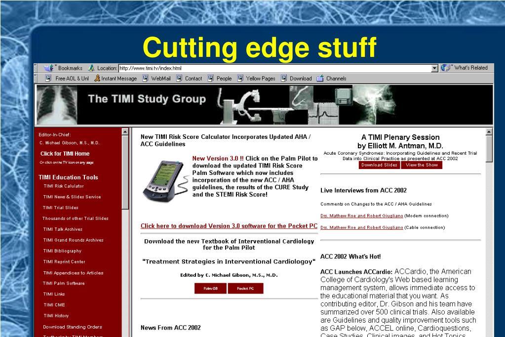 Cutting edge stuff