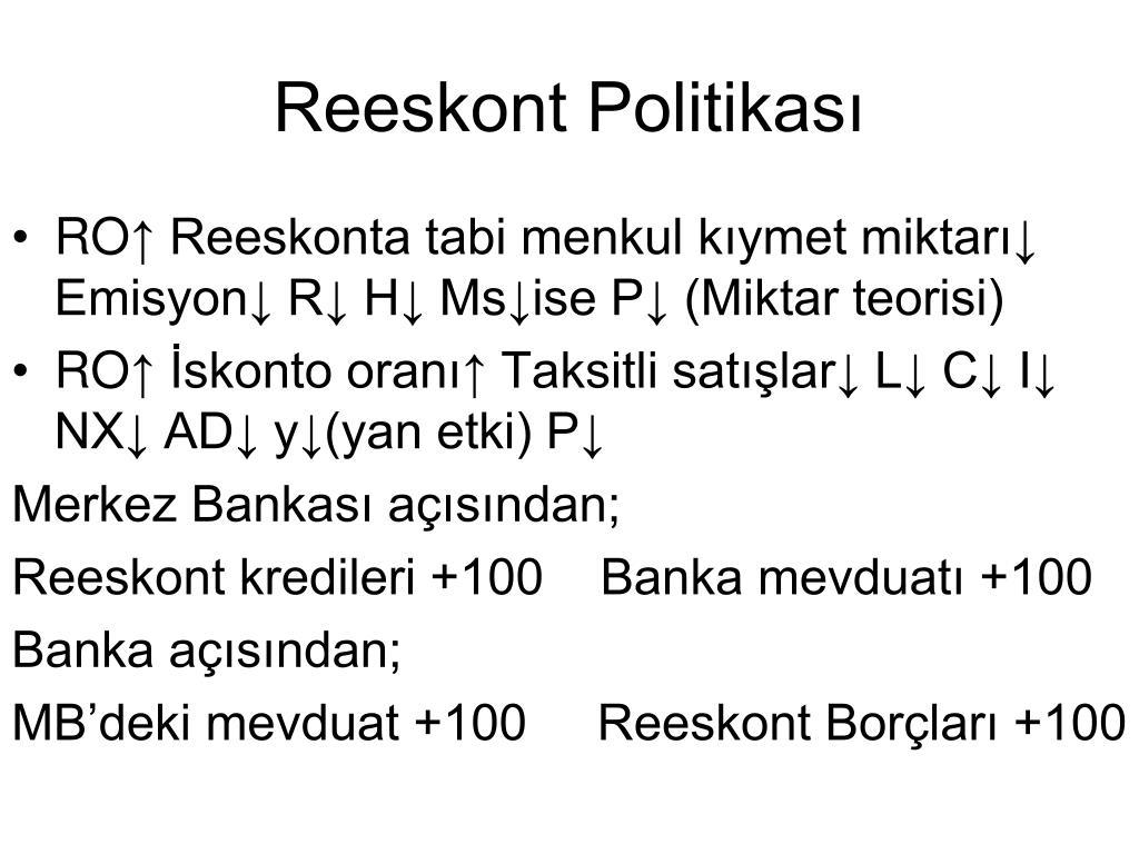 Reeskont Politikası