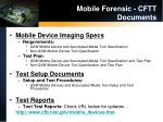 mobile forensic cftt documents