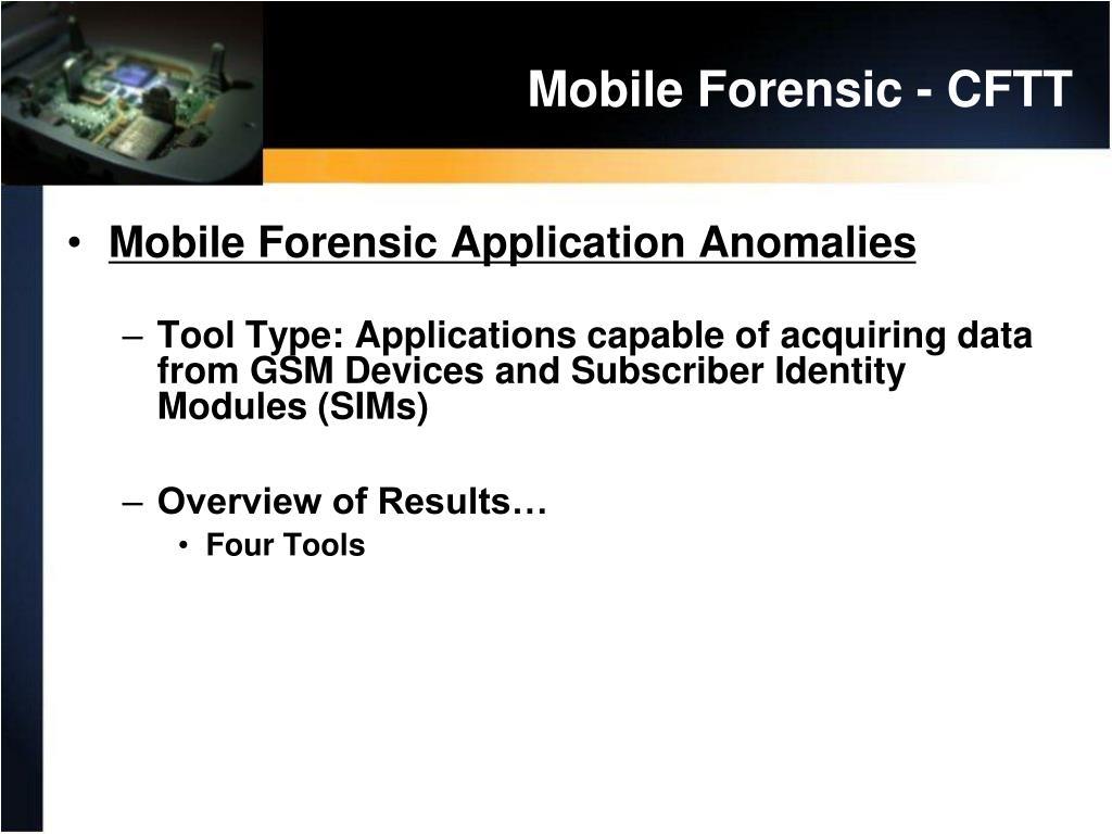 Mobile Forensic - CFTT