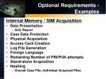 optional requirements examples