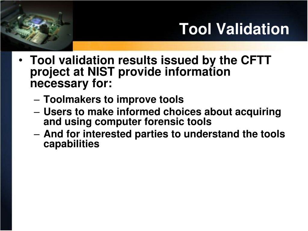 Tool Validation
