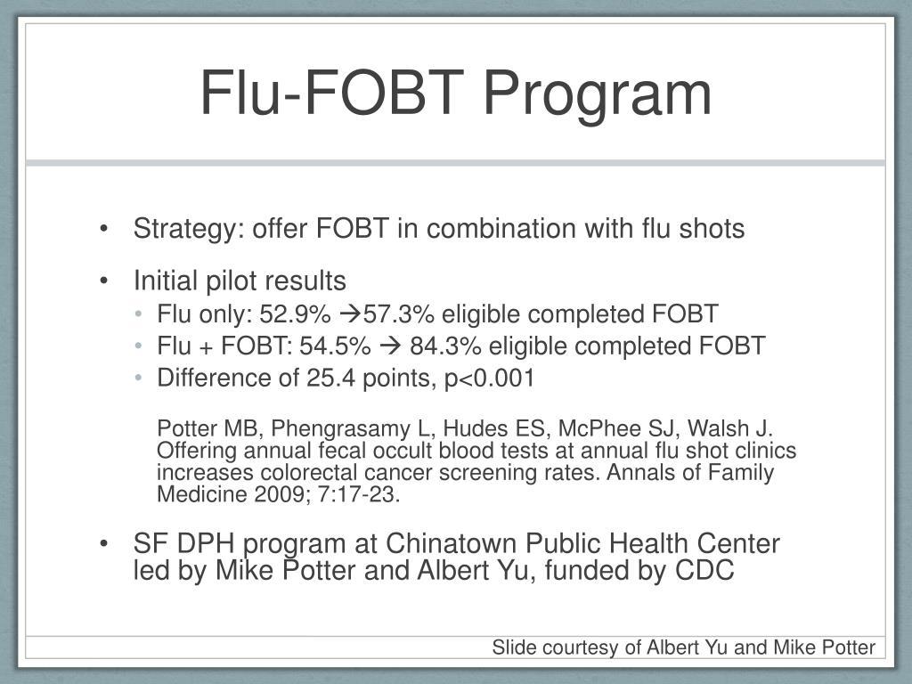 Flu-FOBT Program