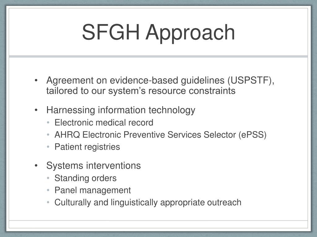 SFGH Approach