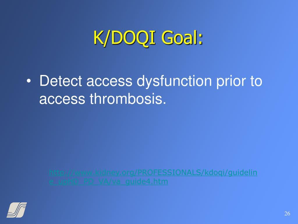 K/DOQI Goal: