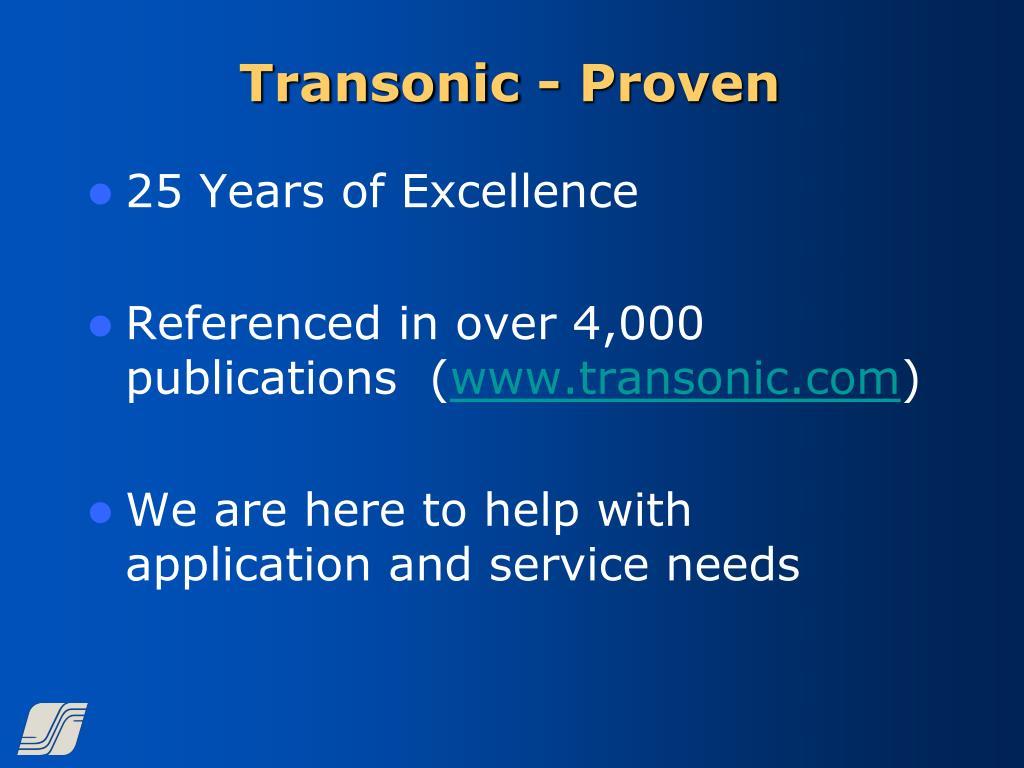 Transonic - Proven