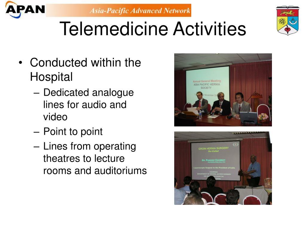 Telemedicine Activities