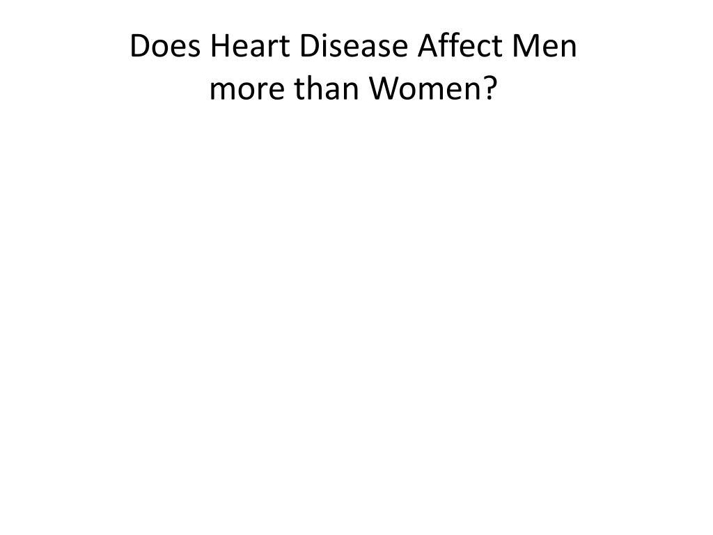 Does Heart Disease Affect Men