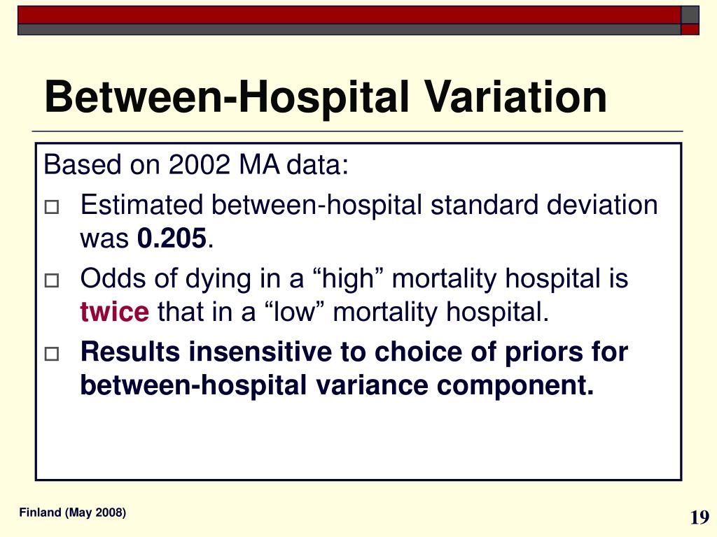 Between-Hospital Variation