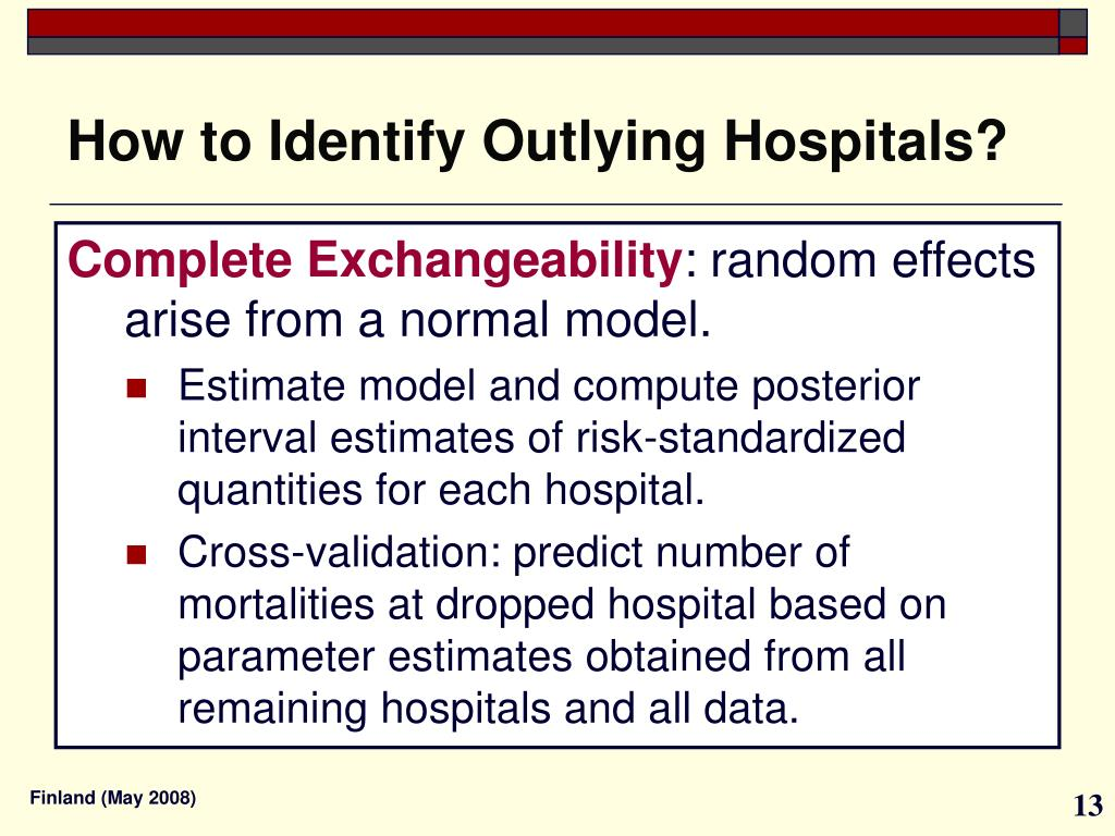 How to Identify Outlying Hospitals?