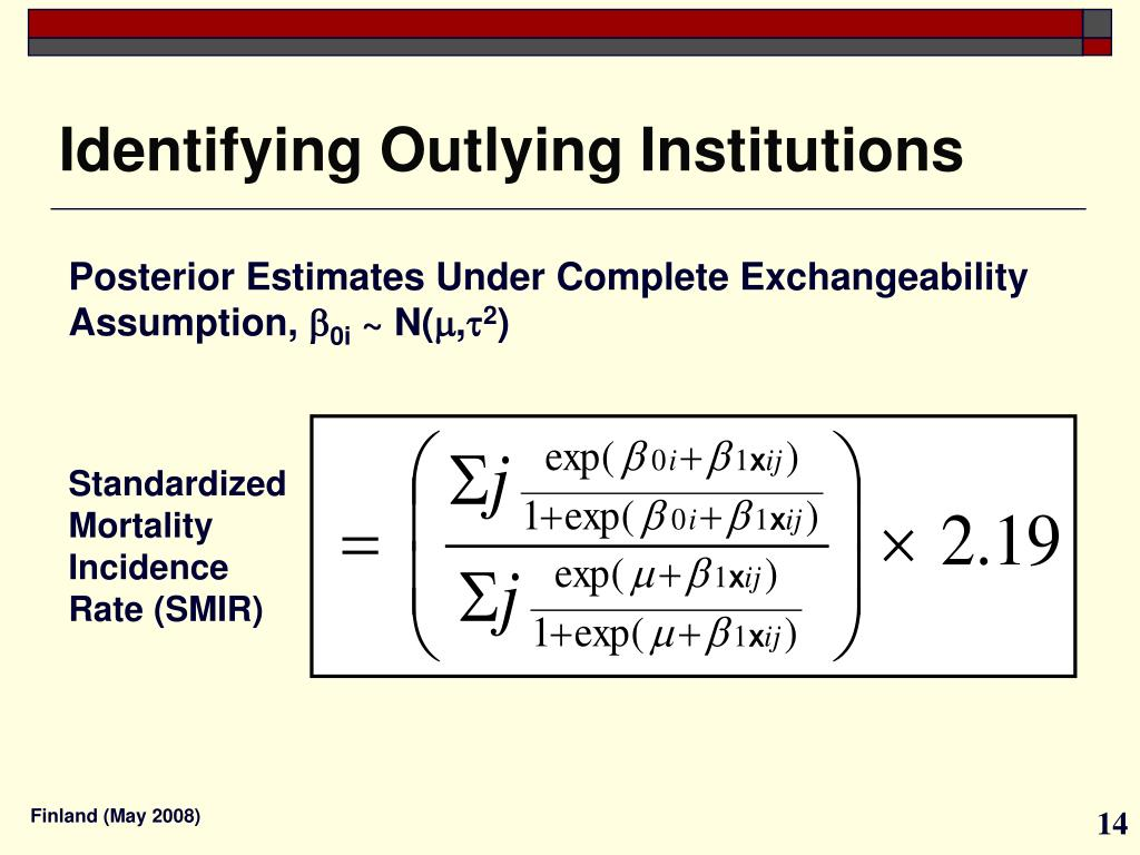 Identifying Outlying Institutions
