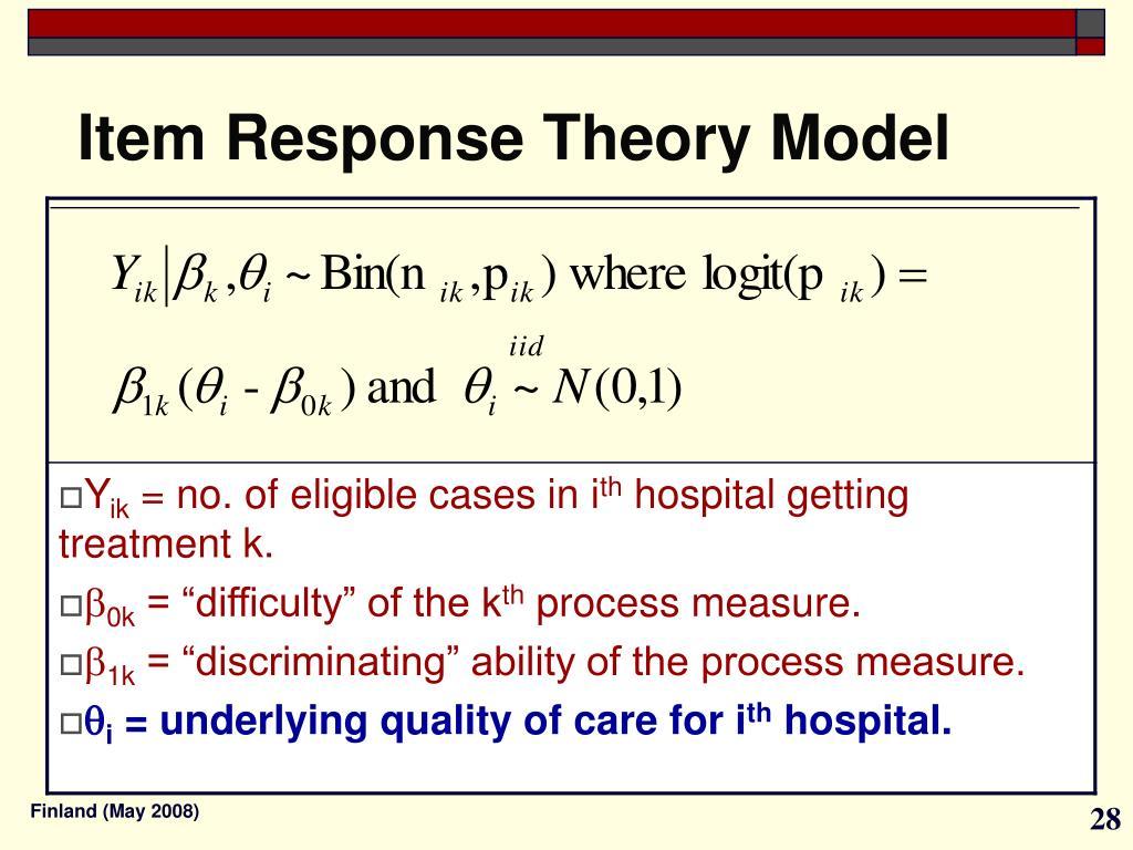 Item Response Theory Model