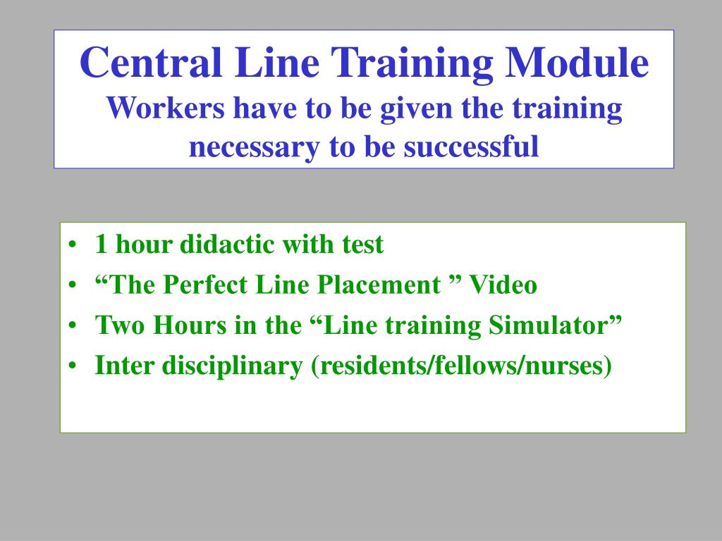 Central Line Training Module
