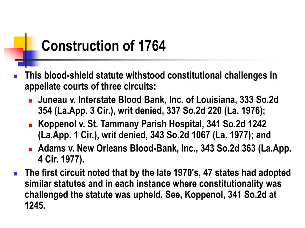 Construction of 1764