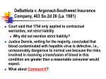 debattista v argonaut southwest insurance company 403 so 2d 26 la 1981