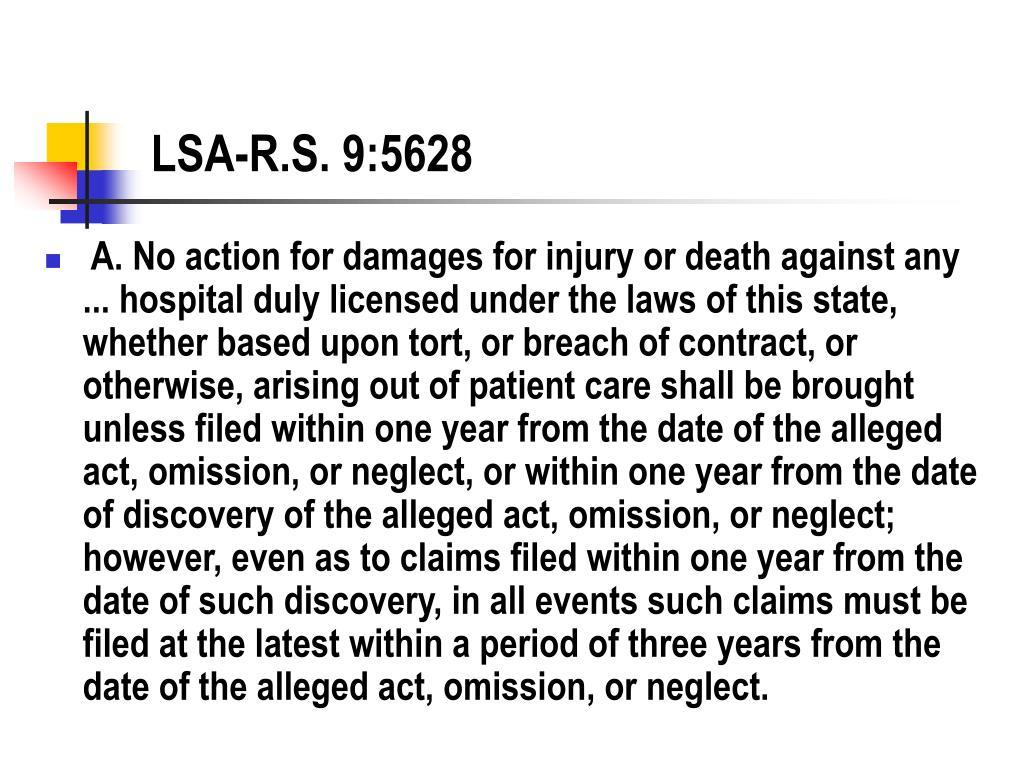 LSA-R.S. 9:5628