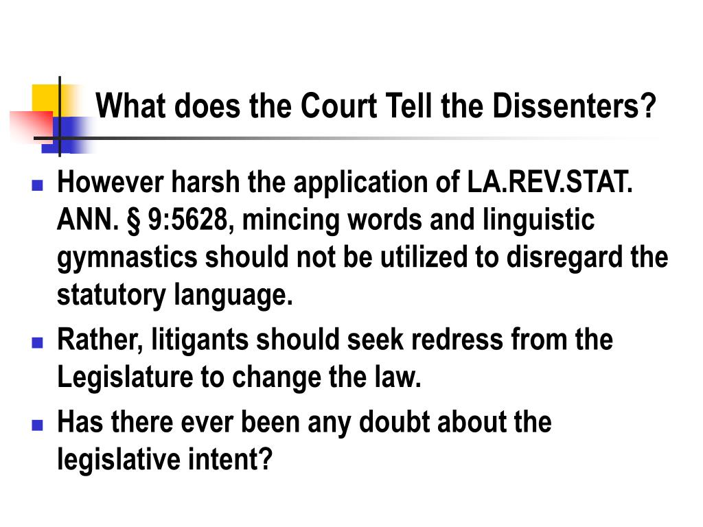 What does the Court Tell the Dissenters?