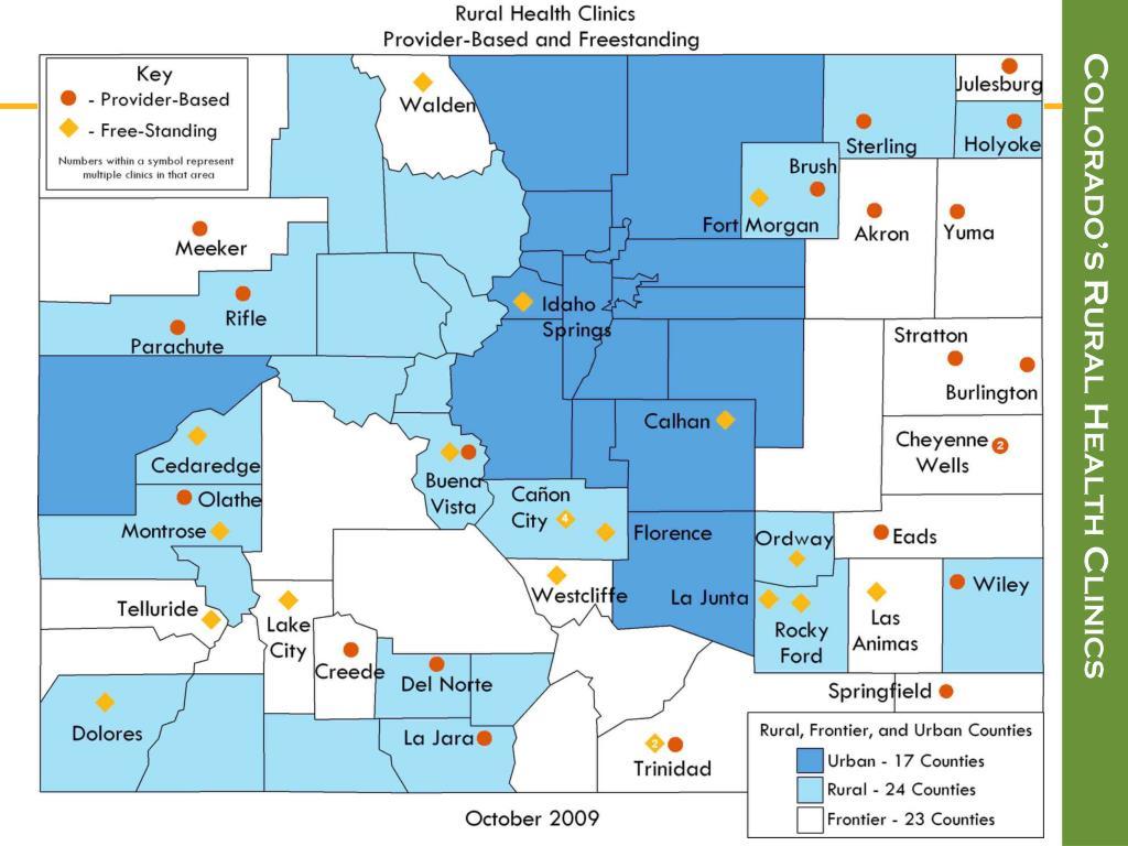 Colorado's Rural Health Clinics